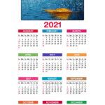 Calendar A4 - 1 fila